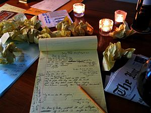 Writings, candles
